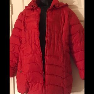 Jackets & Blazers - The red puffy jacket with hood size 3X